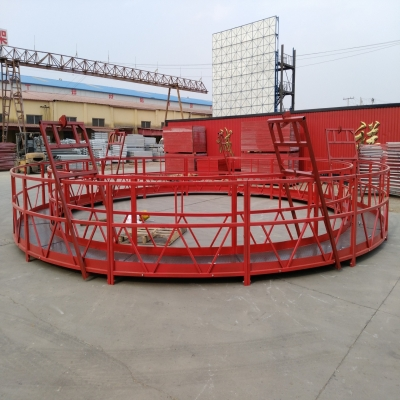 河北产圆型吊篮展示,大桥墩施工更方便啦